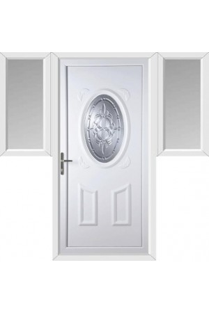 Swansea New Celtic uPVC Door with Two Flags