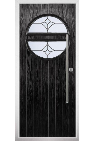 The Xenia Black Composite Door with Crystal Tulip Arch