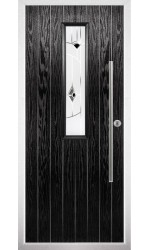 The Yorkshire Black Composite Door with Black Murano