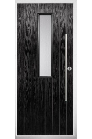 The Yorkshire Black Composite Door with Clear Glazing