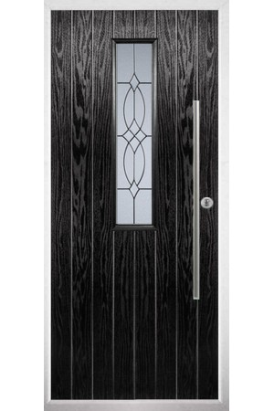 The Yorkshire Black Composite Door with Flair Glazing