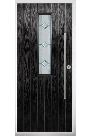 The Yorkshire Black Composite Door with Simplicity