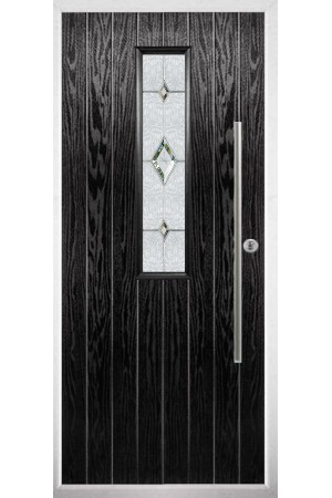 The Yorkshire Black Composite Door with Crystal Diamond