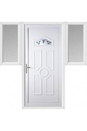 Viewpark House No uPVC Door with Two Flags