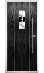The Zetland Black Composite Door with Black Crystal Bohemia