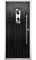 The Zetland Black Composite Door with Black Diamonds