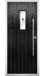 The Zetland Black Composite Door with Black Murano