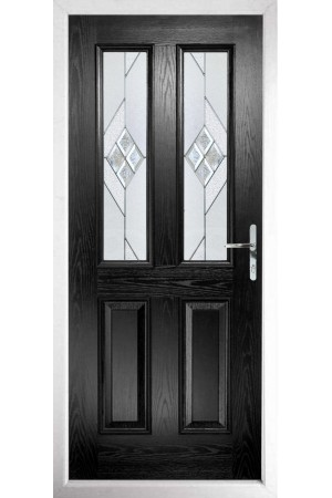 The Cheshire Black Composite Door with Eclipse Glazing