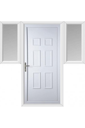 Ashford Solid uPVC Door with Two Flags