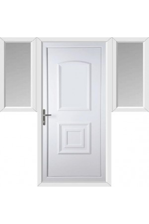 Folkestone Solid uPVC Door with Two Flags
