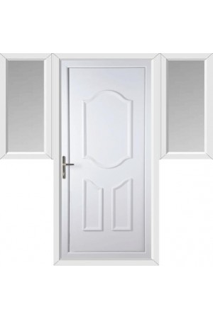 Gravesend Solid uPVC Door with Two Flags