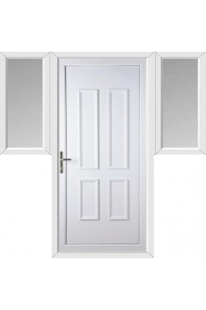 Ilkeston Solid uPVC Door with Two Flags