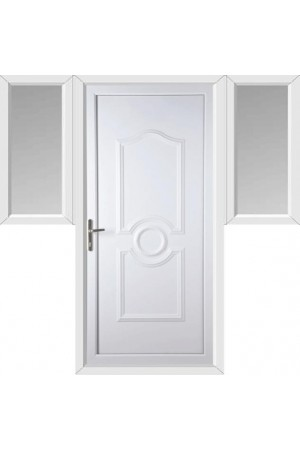 Jacobstow Solid uPVC Door with Two Flags