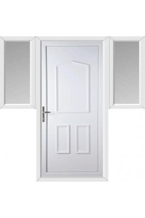 Oakham Solid uPVC Door with Two Flags