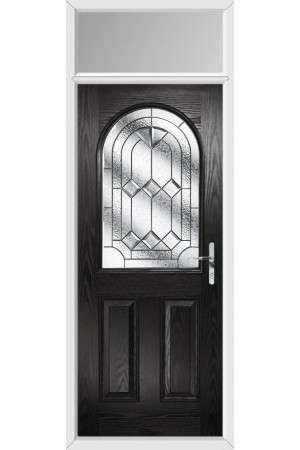 The Essex Black Composite Door with Simplicity and Toplight