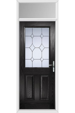 The Fort William Black Composite Door with Crystal Diamond and Toplight