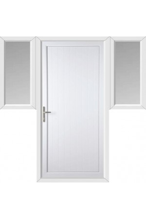 Upminster Solid uPVC Door (home use) with Two Flags