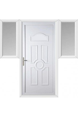 Viewpark Solid uPVC Door with Two Flags