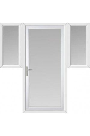 Full Glass uPVC Door with Two Flags