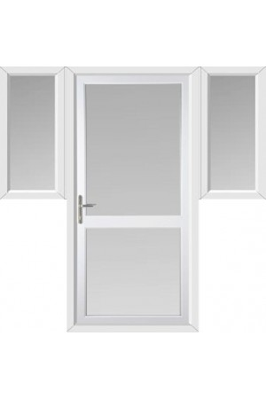 Fully Glazed uPVC Door with Midrail with Two Flags