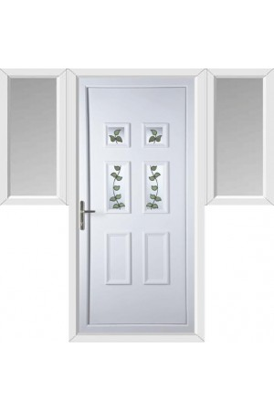 Ashford Rose Vine uPVC Door with Two Flags