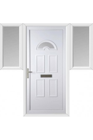 Blackburn Clear Glazed uPVC Door with Two Flags