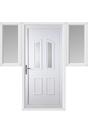 Darlington Clear Glazed uPVC Door with Two Flags