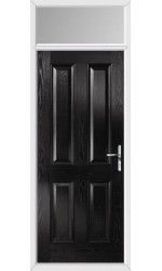 The Middlesbrough Black Composite Door with Toplight