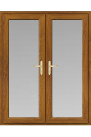 uPVC French Doors in Oak