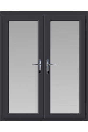 uPVC French Doors in Anthracite Grey