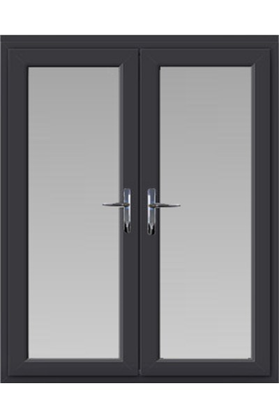 Upvc French Door In Anthracite Grey Frame Style