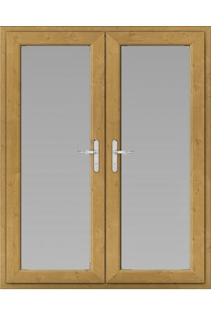 uPVC French Doors in Irish Oak