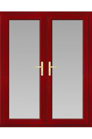 uPVC French Doors in Red