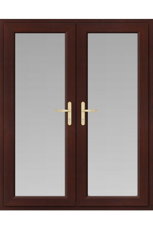 uPVC French Doors in Rosewood
