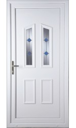 Darlington Blue Stud uPVC Door