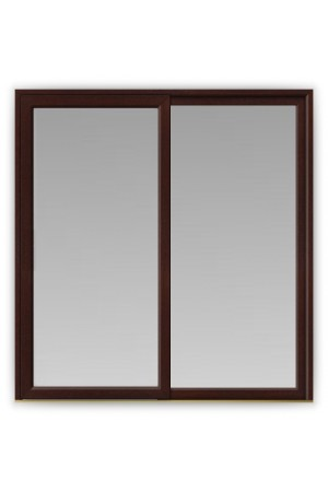 In-Line Sliding uPVC Patio Doors in Rosewood