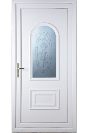Ellesmere Port Rose Sandblast uPVC Door