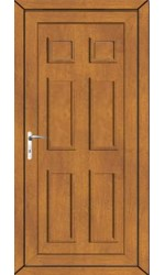 Ashford Solid uPVC Door in Oak