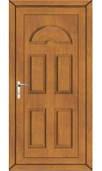 Blackburn Solid uPVC Door in Oak