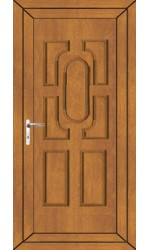 Colchester Solid uPVC Door in Oak
