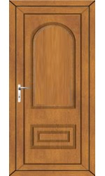 Ellesmere Port Solid uPVC Door is Oak
