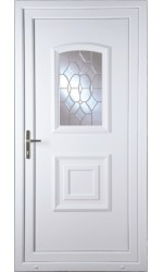 Folkestone Clear Crystal uPVC Door