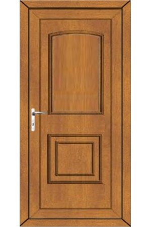 Folkestone Solid uPVC Door in Oak