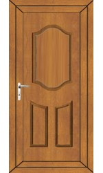 Gravesend Solid uPVC Door in Oak