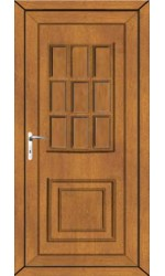 Harrogate Solid uPVC Door in Oak