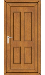 Ilkeston Solid uPVC Door in Oak