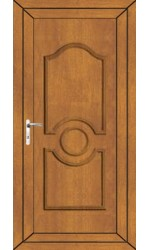 Jacobstow Solid uPVC Door in Oak