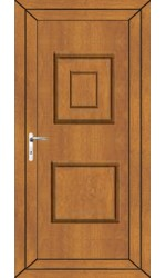 Loughborough Solid uPVC Door in Oak