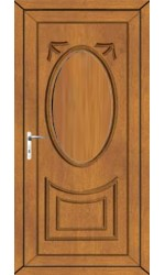 Maidenhead Solid uPVC Door in Oak
