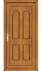Newport Solid uPVC Door in Oak